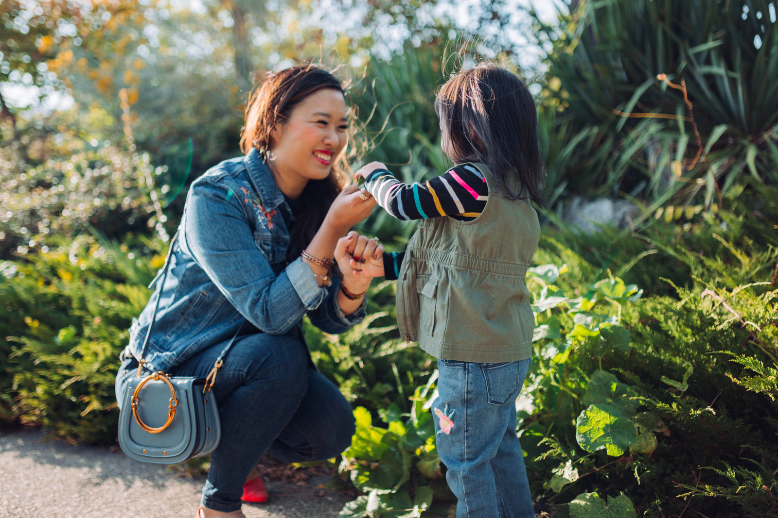 Mommy and Me Outfits: Embroidered Denim Old Navy Outdoor Folk Collection by Utah fashion blogger Sandy A La Mode
