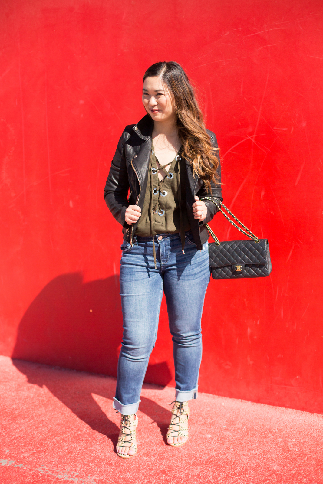 Boyfriend Denim Jeans Two Ways: Dressed Down and Up by Utah fashion blogger Sandy A La Mode