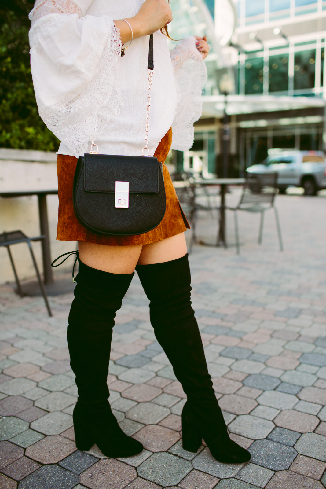 3 Ways To Wear Black Over The Knee Boots by Utah fashion blogger Sandy A La Mode