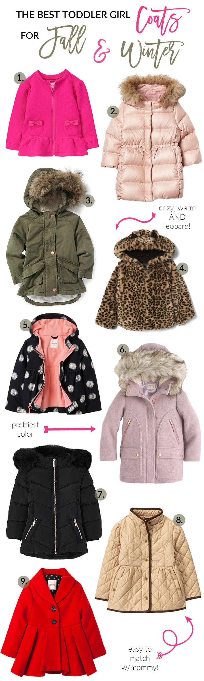 The Best Toddler Coats for Fall & Winter by Utah fashion blogger Sandy A La Mode