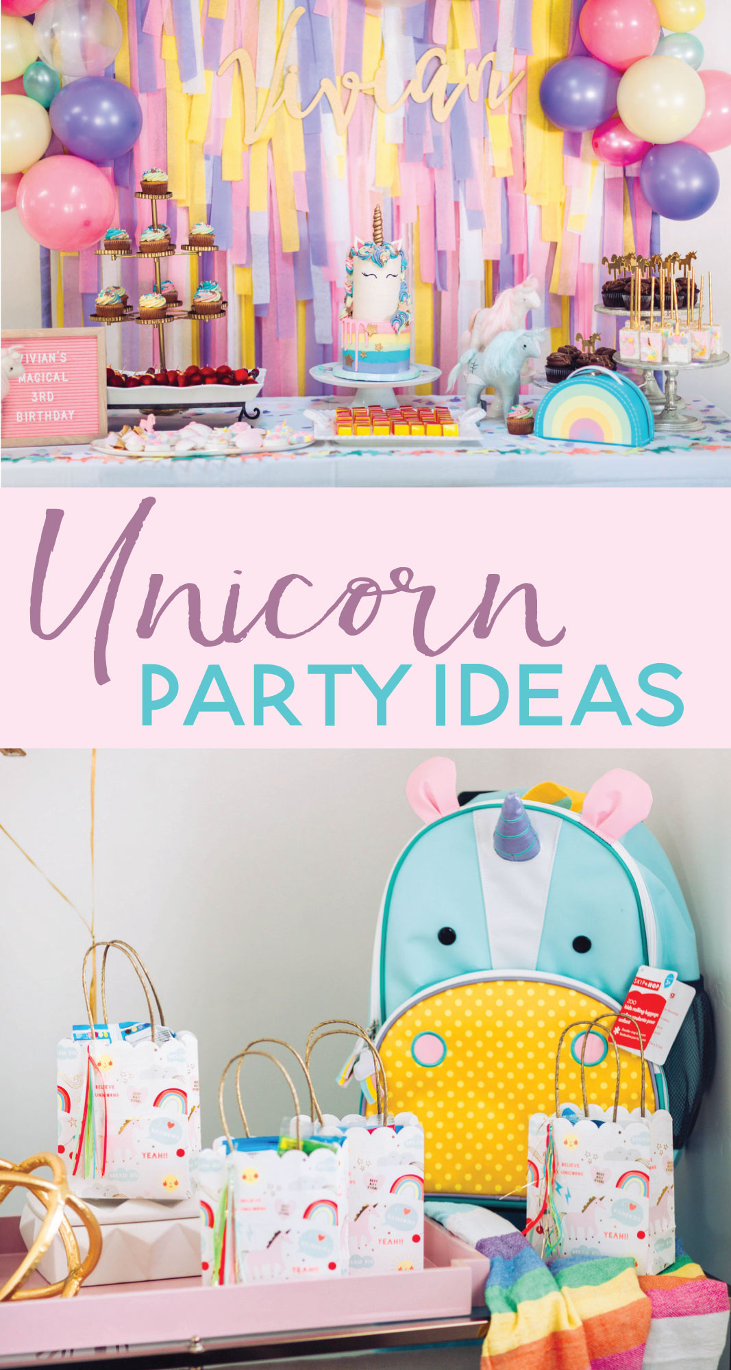 A Magical Unicorn Birthday Party Vivans 3rd