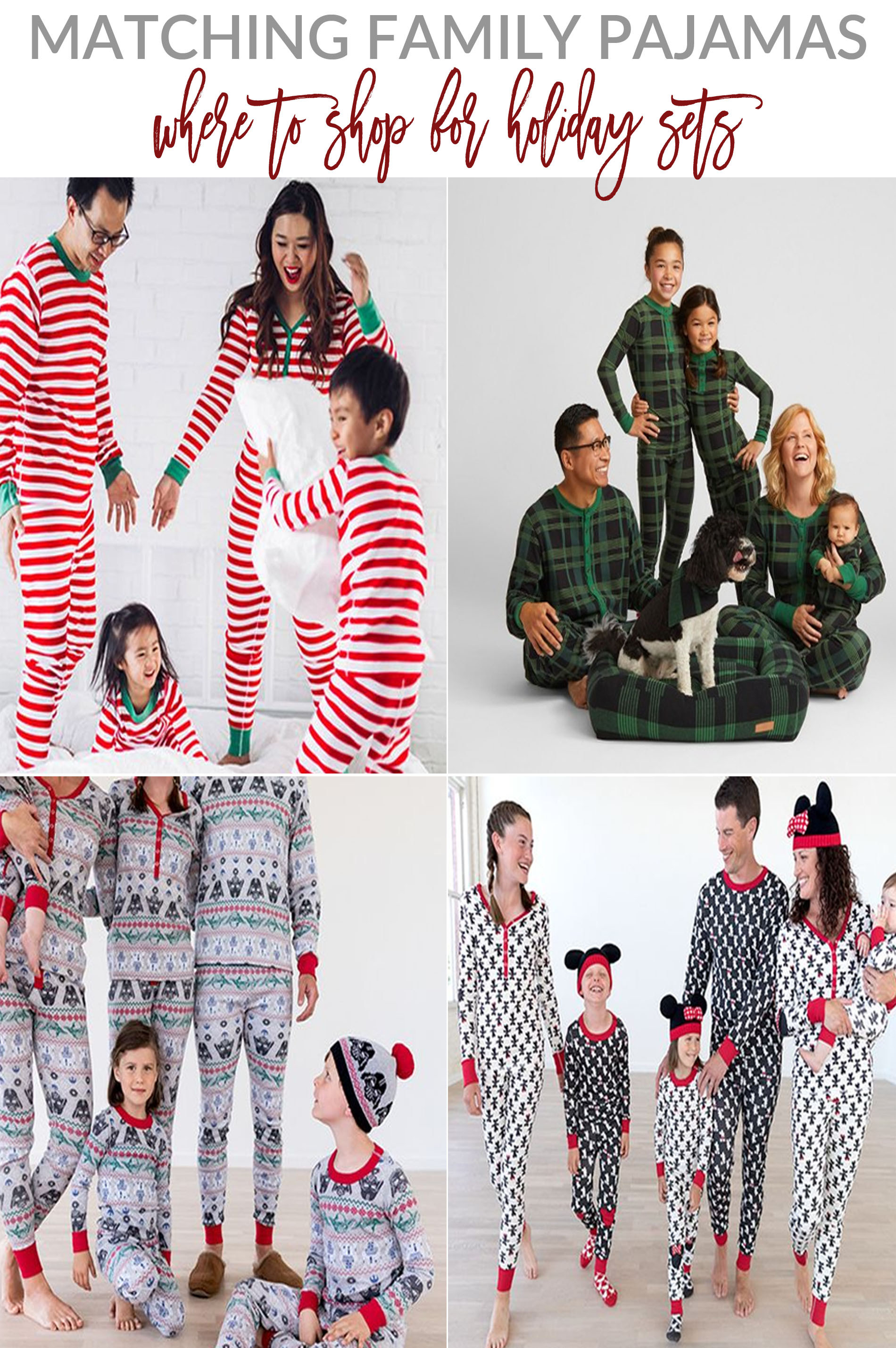 732d26134 Matching Family Pajamas