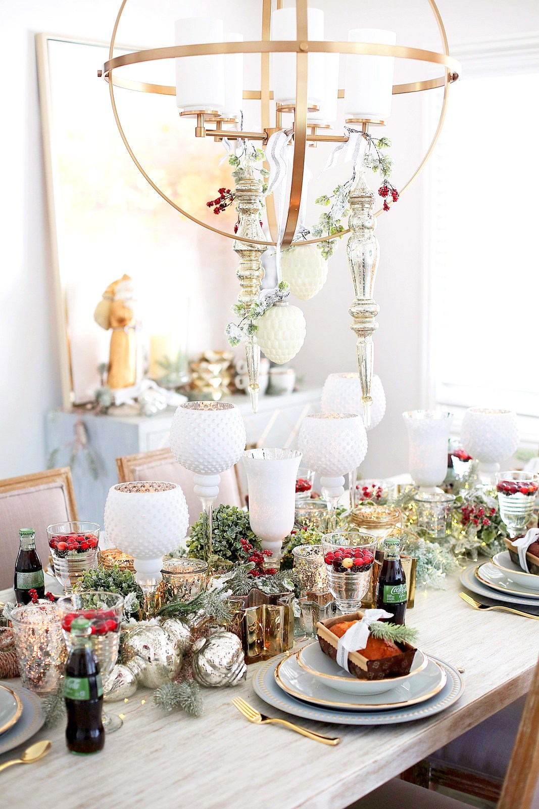 Dining Room Holiday Decor Ideas Home Decor Sandy A La Mode