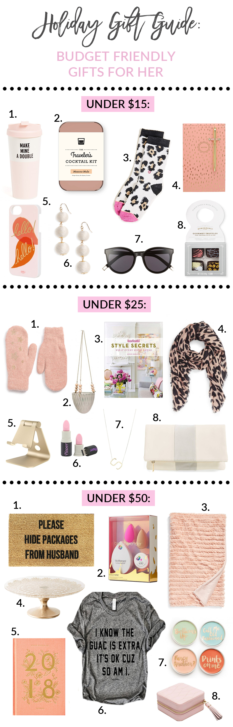 Holiday Gift Guide: Budget Friendly Gifts For Her by Utah style blogger Sandy A La Mode