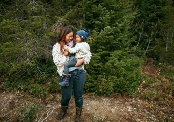 Mommy and Me Outfits: Pom Pom Sweater + Winter Boots