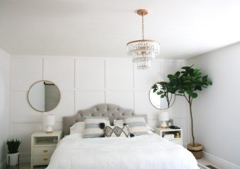DIY Gold Beaded Chandelier