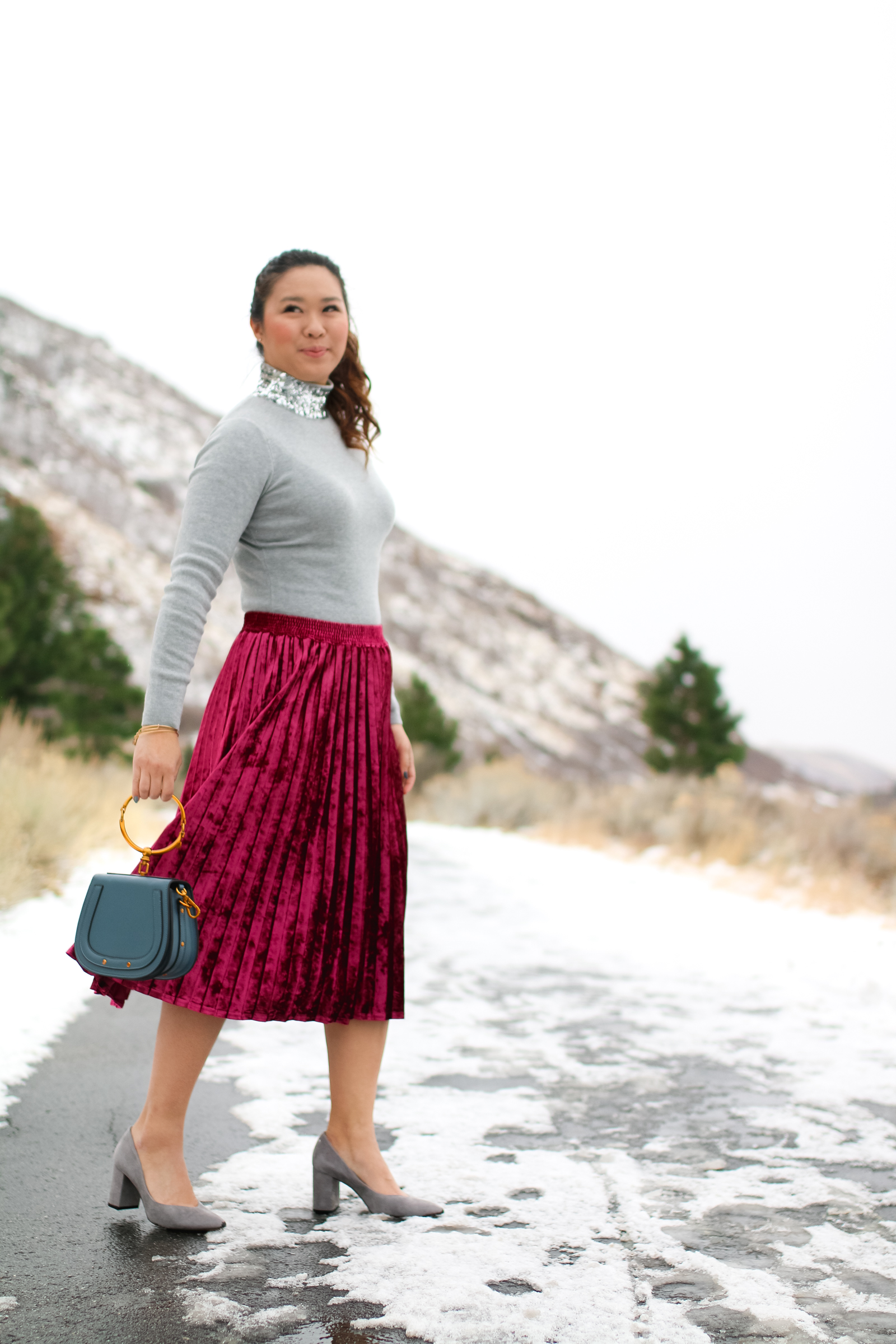New Years Eve Outfit Ideas: Sequins and Velvet by Utah style blogger Sandy A La Mode