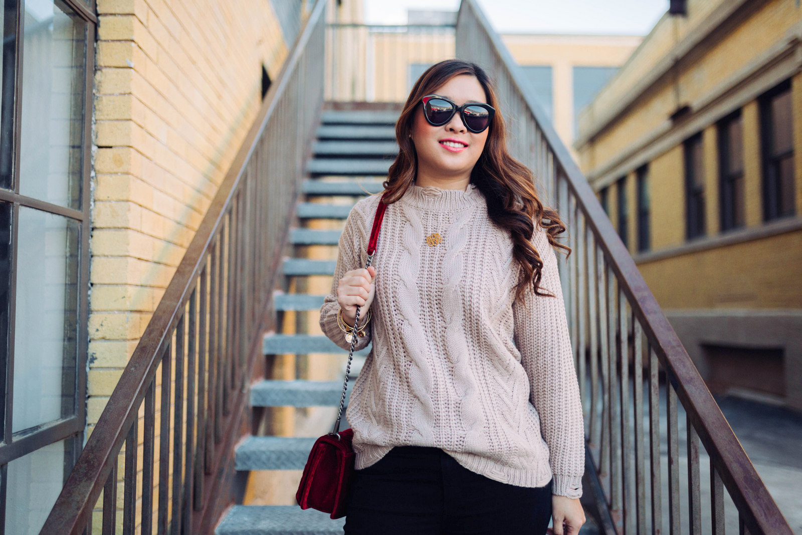 Distressed Sweater + Leopard Booties by popular Utah style blogger Sandy A La Mode