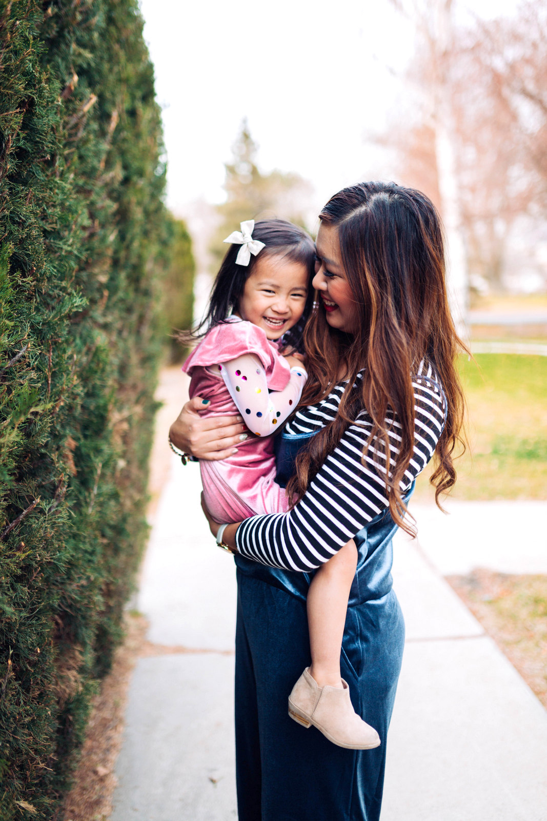 Mommy and Me Outfits: Velvet For The Holidays by Utah style blogger Sandy A La Mode