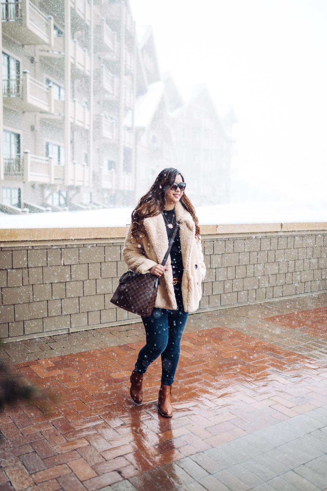 Best Faux Fur Coats for Winter by popular Utah fashion blogger Sandy A La Mode