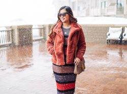 Best Faux Fur Coats for Winter by popular Utah fashion blogger Sandy A La Mode
