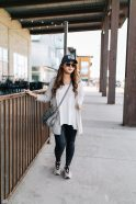 2 Ways To Style A Grey Long Cardigan by popular Utah fashion blogger Sandy A La Mode