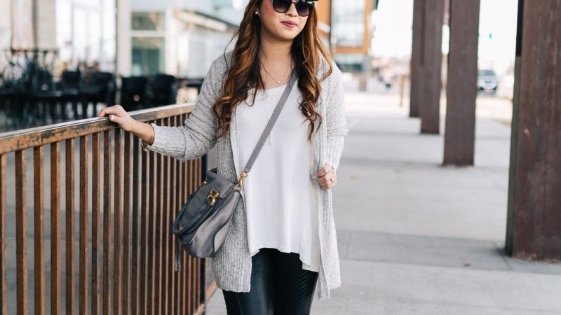 From Daycare Pickup To Date Night: 2 Ways To Style A Grey Long Cardigan