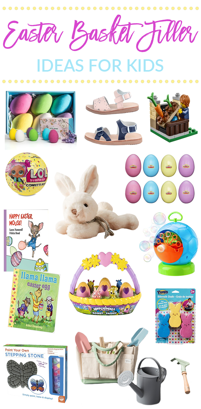 Easter basket filler ideas for kids sandy a la mode easter basket filler ideas for kids by popular utah lifestyle blogger sandy a la mode negle