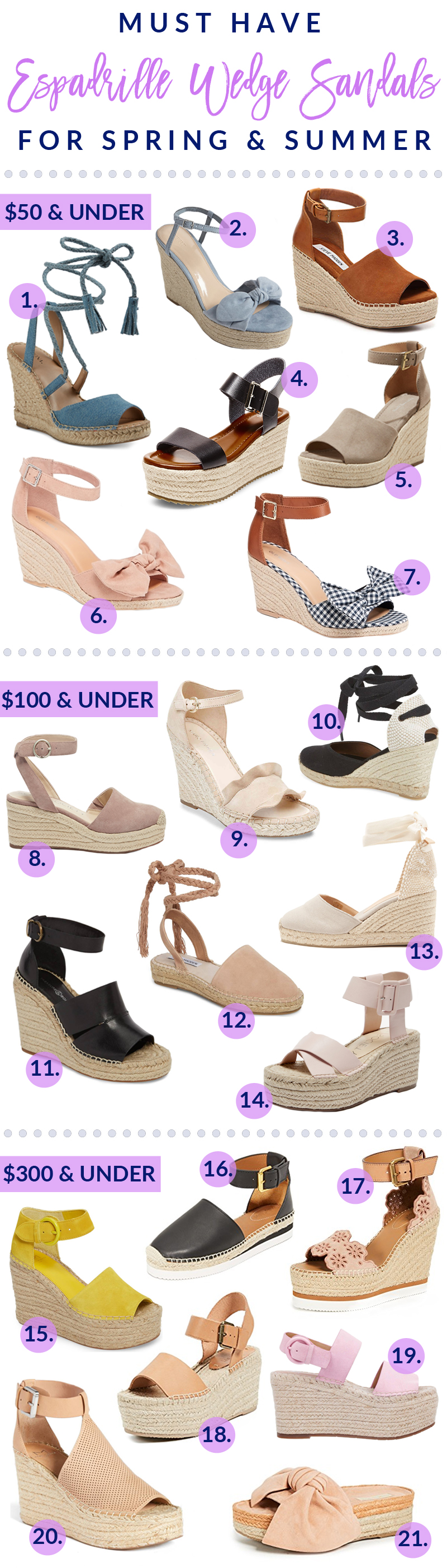 Must Have Espadrille Wedge Sandals For Spring & Summer by popular Utah style blogger Sandy A La Mode