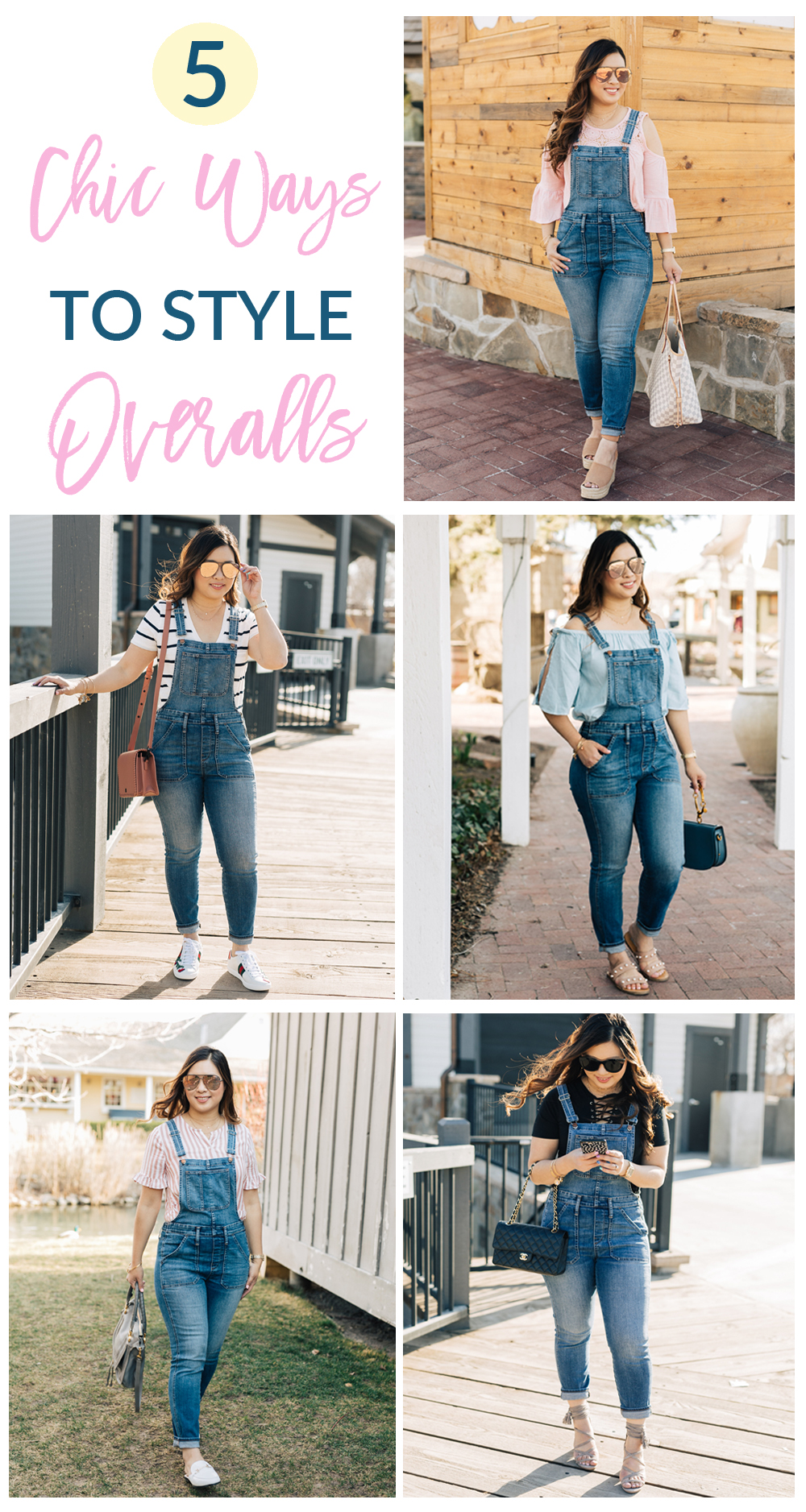 5 Chic Ways To Style Denim Overalls by popular Utah style blogger Sandy A La Mode