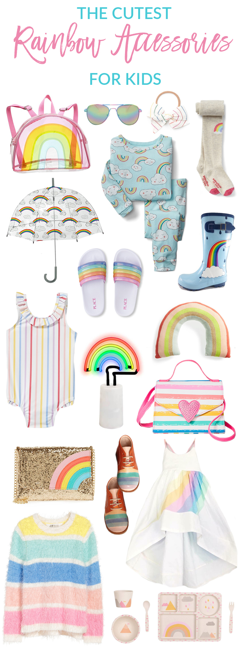 The Cutest Rainbow Clothing and Accessories For Kids by popular Utah style blogger Sandy A La Mode
