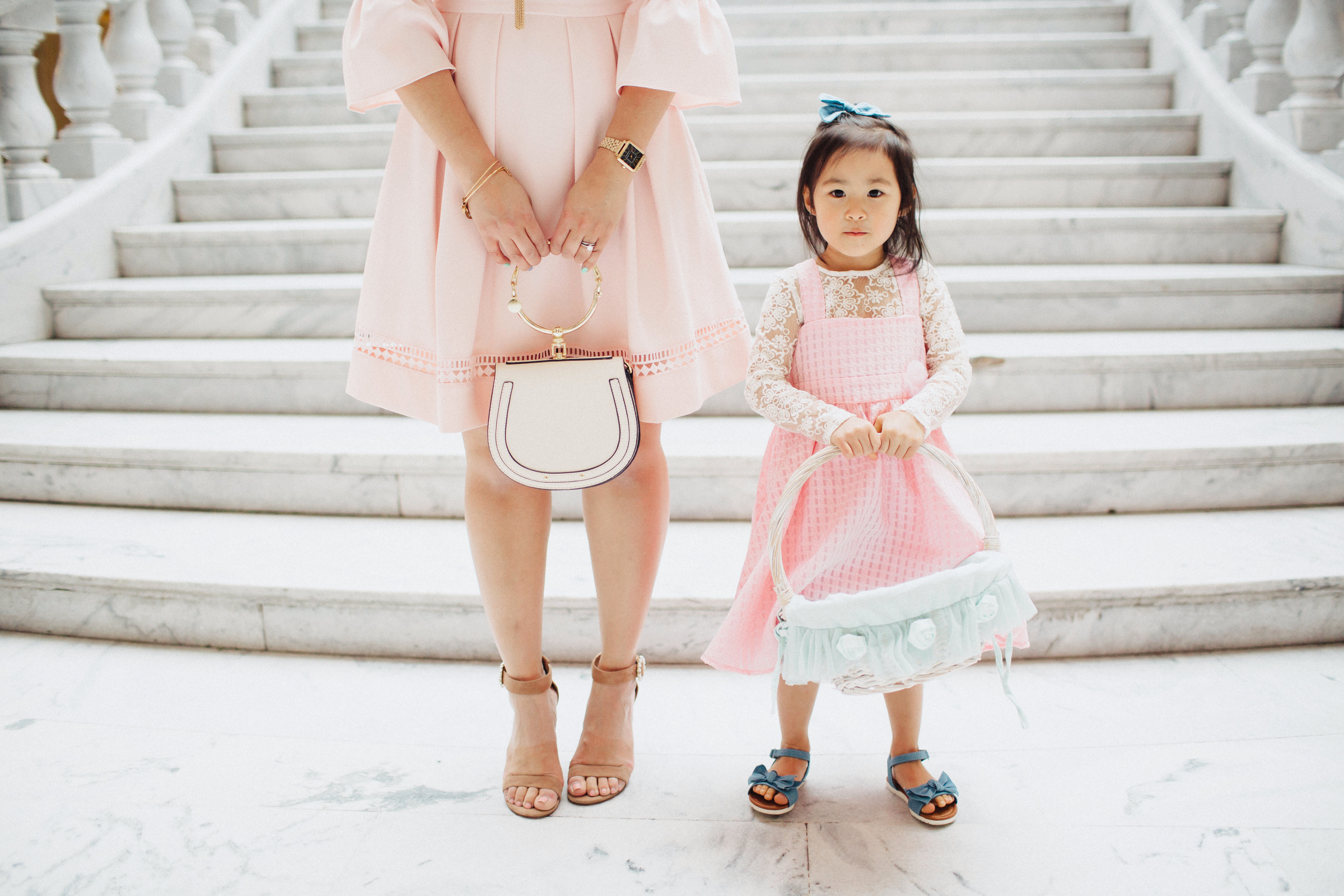 Mommy and me Easter dresses - Affordable Easter Outfits For Girls by popular Utah fashion blogger Sandy A La Mode