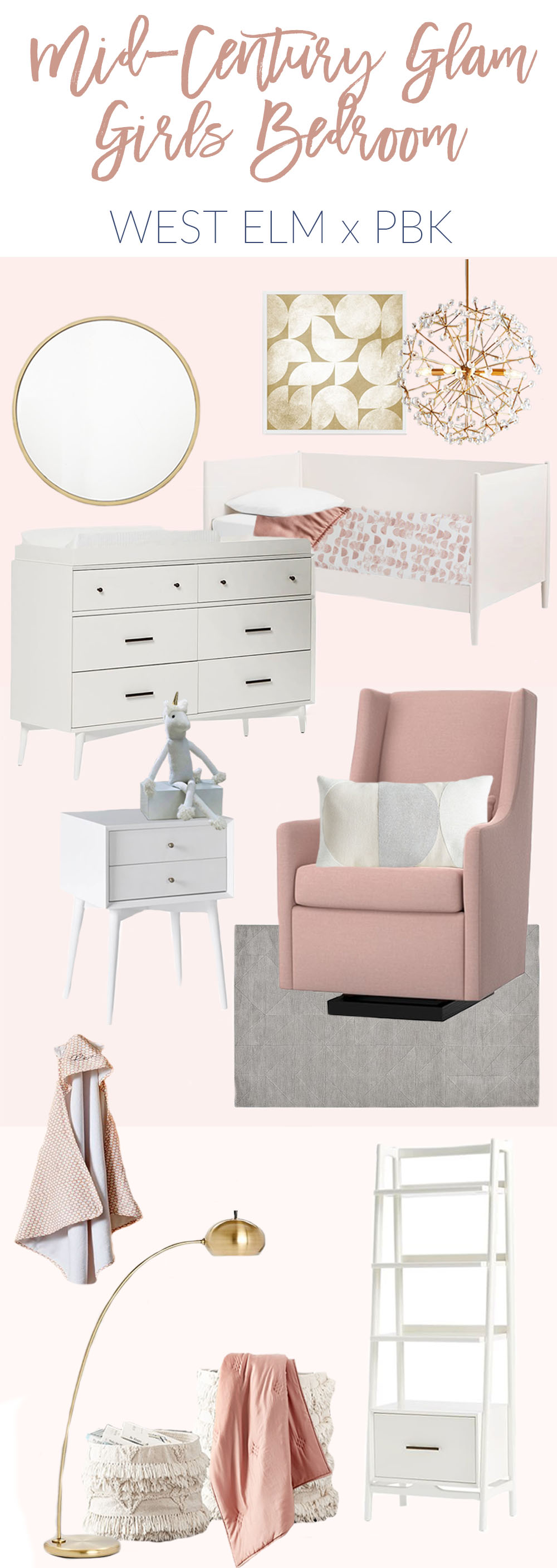 you know me and my love for all things pink if at this point i could redo vivians bedroom with the west elm x pottery barn kids pieces this is totally - West Elm Owned By Pottery Barn