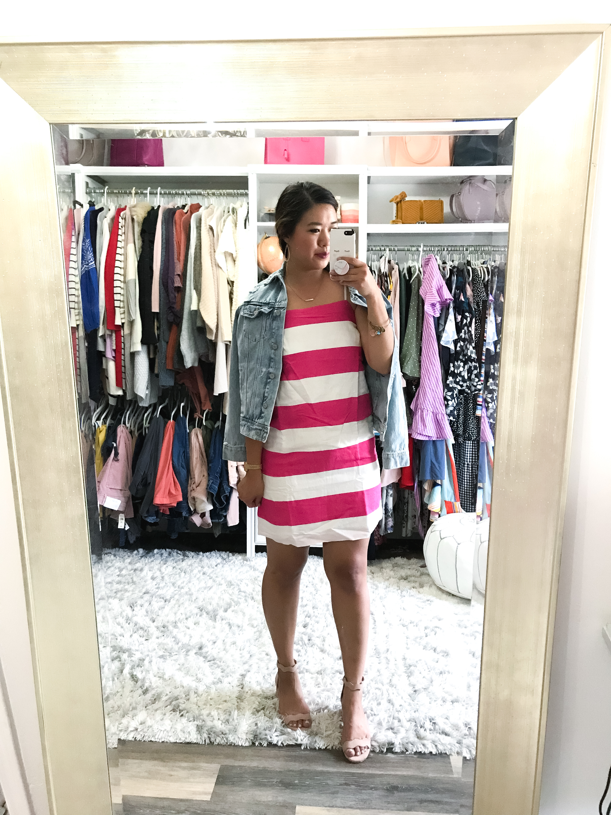 b866fcdbe0a9 CeCe Carnival Stripe Dress – size 6 – This dress is SUPER fun with the hot  pink and white stripes! Would be super cute to wear for a fun summer  concert or ...