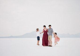 Family Photos at Utah's Bonneville Salt Flats