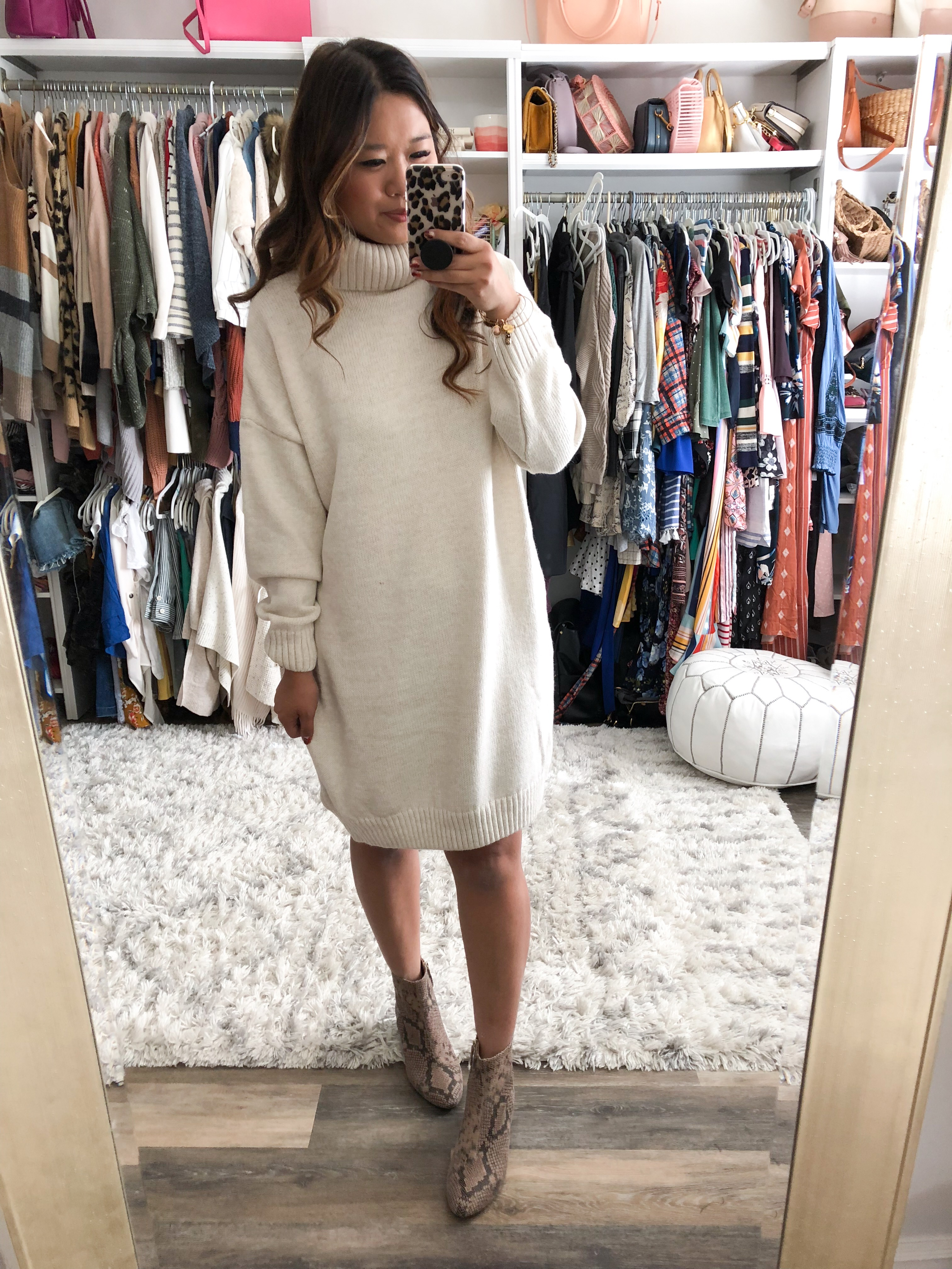 b8b48f8260e Topshop Turtleneck Sweater Dress (size 8) – OK LOVE LOVE LOVE this sweater  dress! It comes in this cream and grey and I want both!