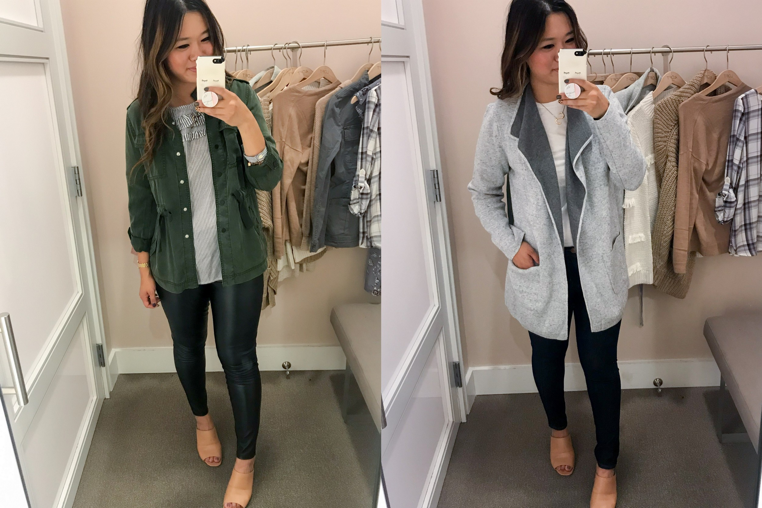 f2935a3f3b8 LOFT Fall Styled Outfits + Dressing Room Try Ons | Sandy a la Mode