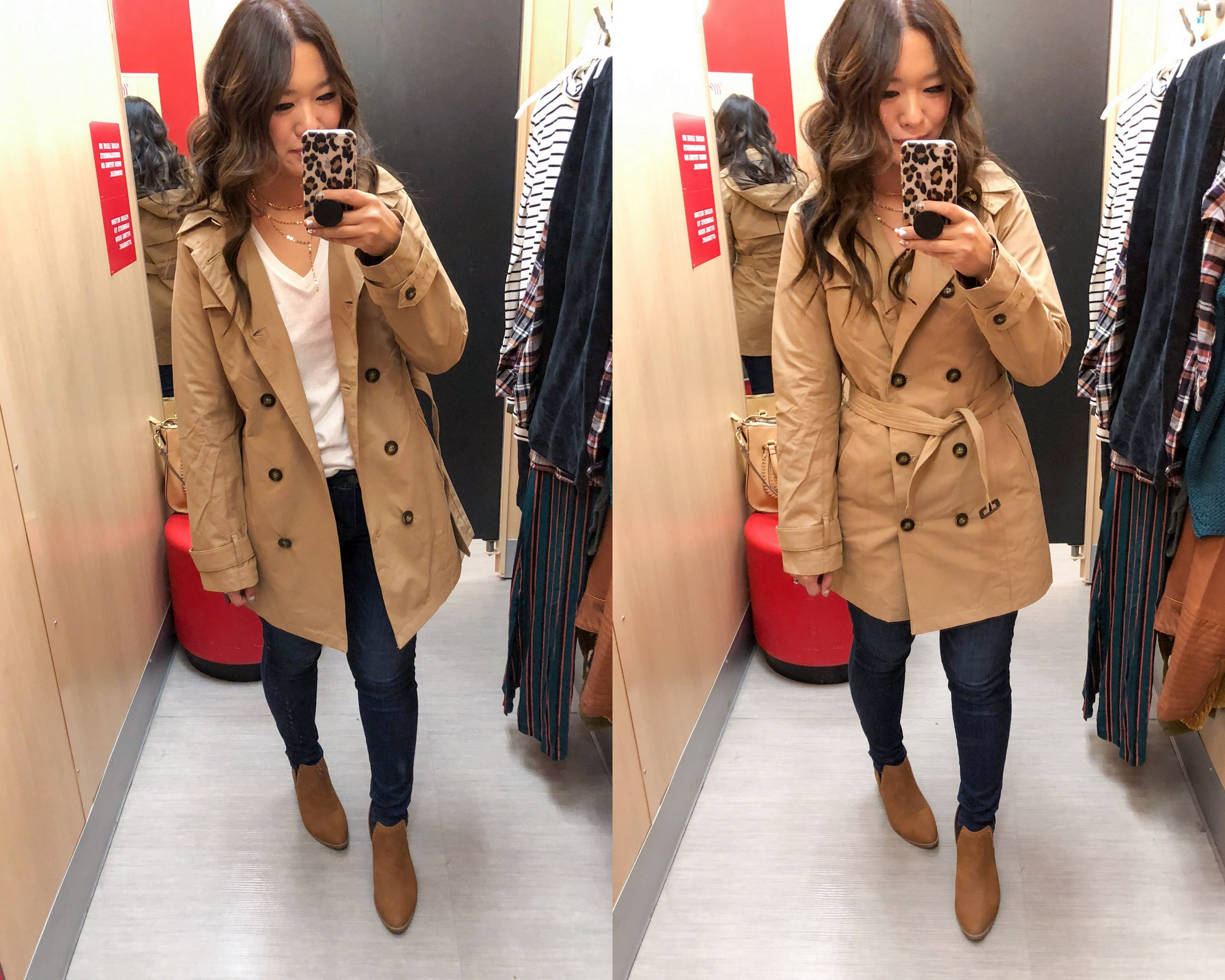 581c36261fa A New Day Double Breasted Trench Coat (Size Small)