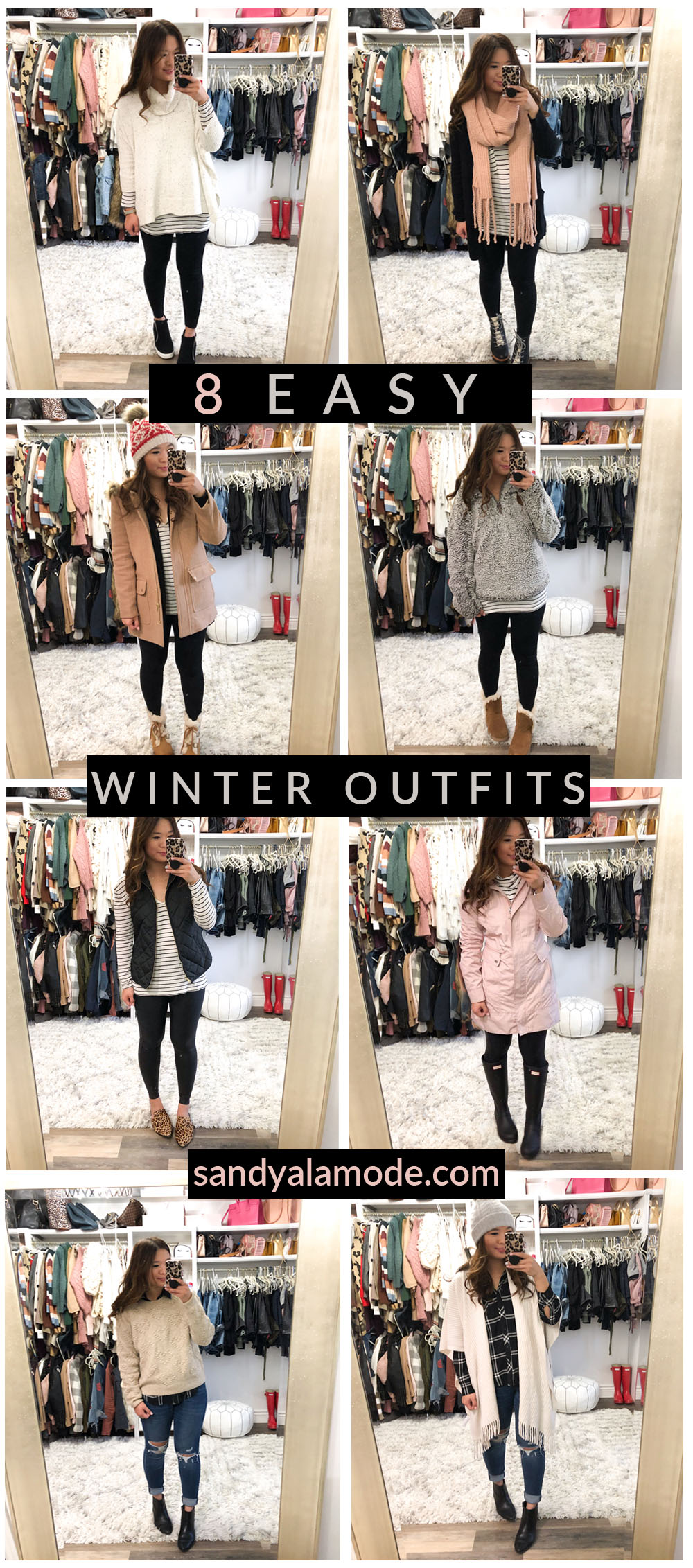 dbcf141521a Ever wake up and don t know what to wear!  I am sharing 8 easy winter go to outfit  ideas! These are tried and true outfits that are perfect for school drop ...