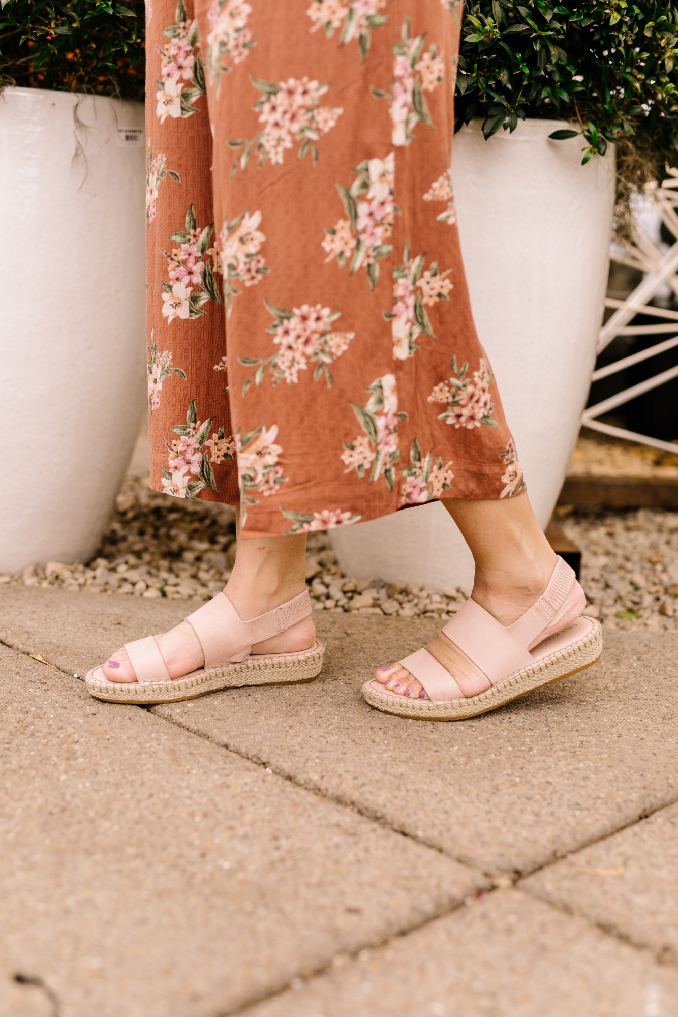 23acb3732d9d The Cole Haan Cloudfeel Espadrille Sandal comes in 4 colors. I went with  Mahogany Rose which is a really pretty blush pink. I m always a firm  believer that ...