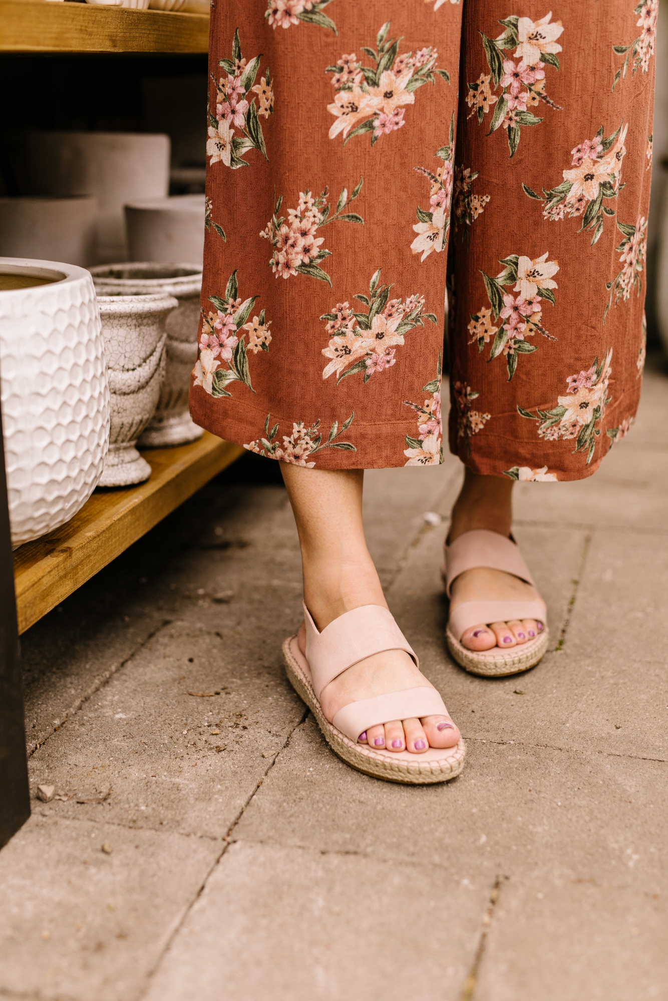 88c5439c11 The Cole Haan Cloudfeel Espadrille Sandal comes in 4 colors. I went with  Mahogany Rose which is a really pretty blush pink. I'm always a firm  believer that ...
