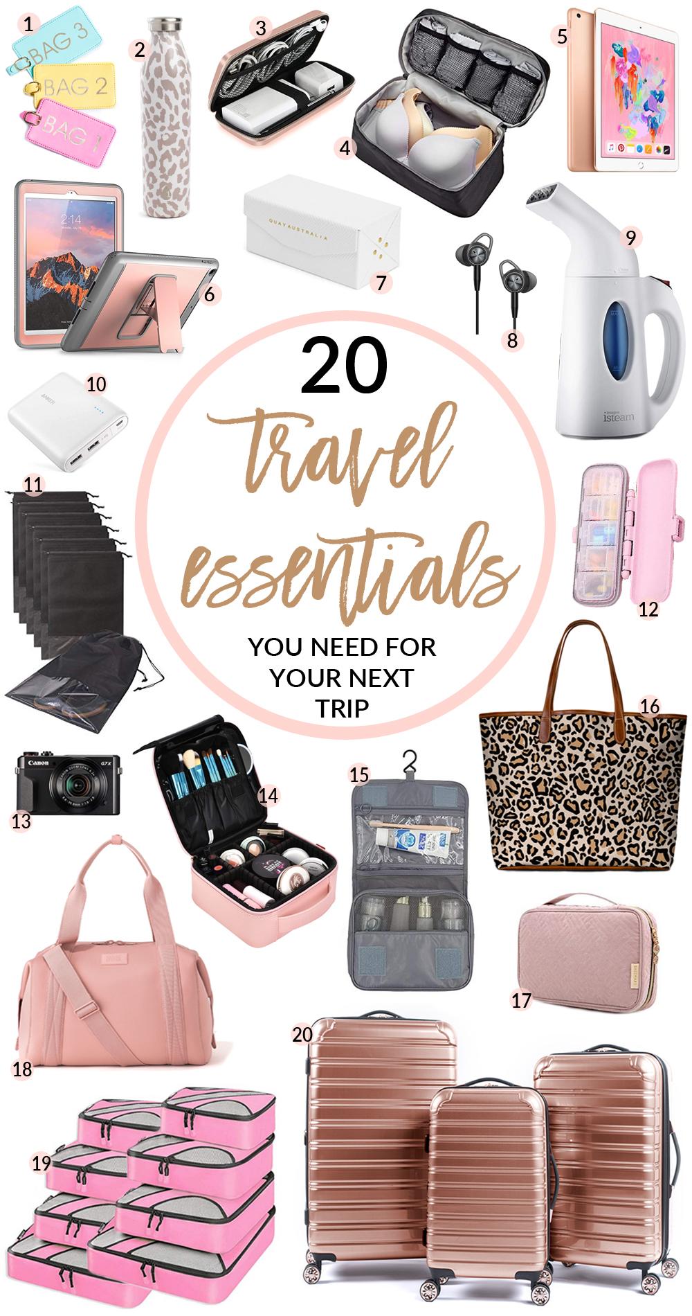My Must Have Travel Essentials | SandyALaMode