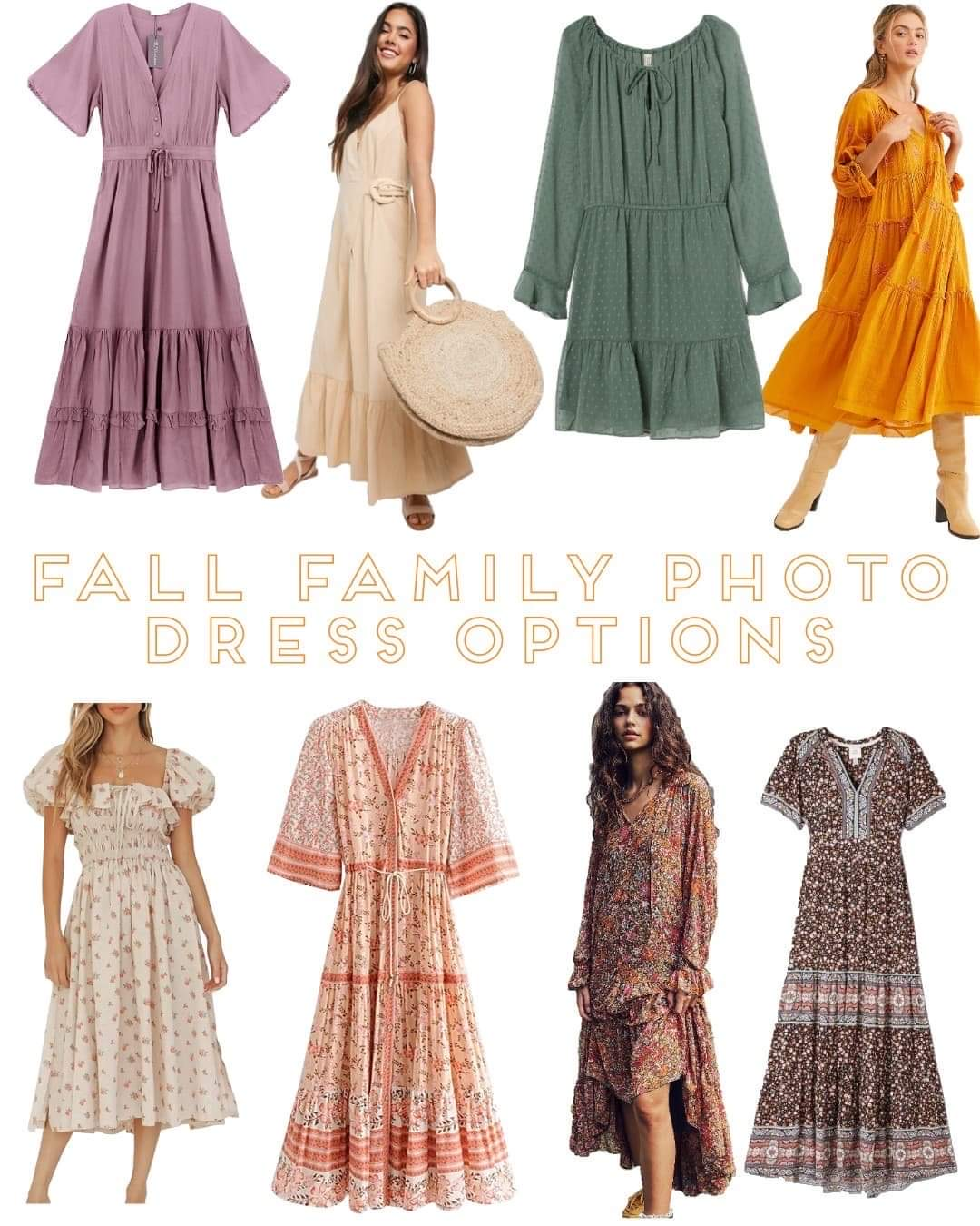 Fall Family Photo Dress Options  SandyALaMode